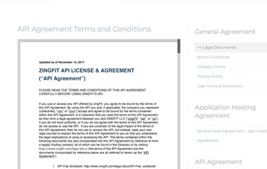 API license agreement